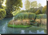 Sul fiume Stretched Canvas Print by Adriano Galasso