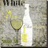White Wine Stretched Canvas Print by Karen J. Williams