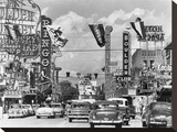 Casino signs along Las Vegas Street, ca. 1954 Stretched Canvas Print