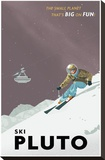 Ski Pluto Stretched Canvas Print by Steve Thomas