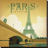 Paris Square Stretched Canvas Print by  Anderson Design Group