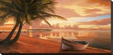 Tramonto ai tropici Stretched Canvas Print by Adriano Galasso