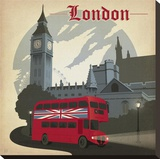 London Square Stretched Canvas Print by  Anderson Design Group