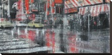 Times Square 2 Stretched Canvas Print by Dario Moschetta