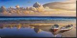 Barche sulla battigia Stretched Canvas Print by Adriano Galasso