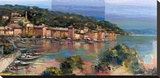 Portofino d'estate Stretched Canvas Print by Luigi Florio