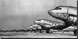 Fleet of Passenger Transport Planes, 1936 (detail) Stretched Canvas Print