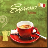 Espresso Stretched Canvas Print by Skip Teller