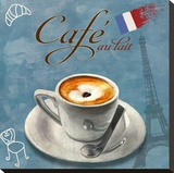Cafe au lait Stretched Canvas Print by Skip Teller