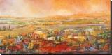 Villaggio delle colline Stretched Canvas Print by Tebo Marzari