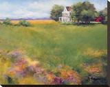 June Fields Stretched Canvas Print by Jan E. Moffatt