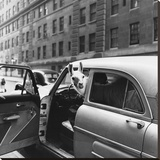 Llama in a car, ca. 1950 Stretched Canvas Print