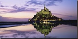 Mont-St.-Michel at dusk (detail) Stretched Canvas Print by Roy Rainford