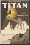 Rock Climbing on Titan Stretched Canvas Print by Steve Thomas