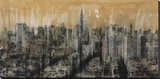 NYC6 (detail) Stretched Canvas Print by Dario Moschetta