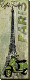 Eiffel Tower Stretched Canvas Print by Karen J. Williams