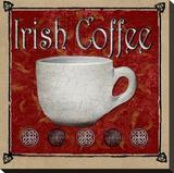 Café irlandés (tamaño reducido) Reproducción en lienzo de la lámina por Karen J. Williams