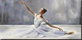 Bailarina Reproducción en lienzo de la lámina por Pierre Benson