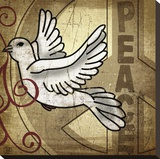Peace Dove Stretched Canvas Print by Suzanna Anna