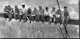 New York Construction Workers Lunching on a Crossbeam, 1932 Stretched Canvas Print by Charles C. Ebbets