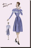 Country Style Dress, 1947 Stretched Canvas Print