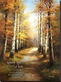 Birch Walk with Verse Stampa su tela di  Arcobaleno