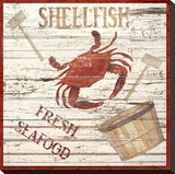 Fresh Seafood Stretched Canvas Print by Karen J. Williams