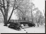 Winter Bridge I Stretched Canvas Print by Keith Dotson