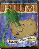 Antigua Rum Stretched Canvas Print by Karen J. Williams