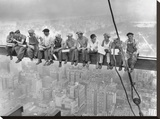 New York Construction Workers Lunching on a Crossbeam, 1932 Reproduction sur toile tendue par Charles C. Ebbets