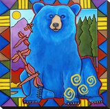 Blue Bear Stretched Canvas Print by D.G. House