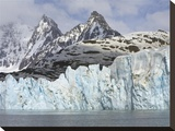 Neumayer Glacier Calving on South Georgia Island Stretched Canvas Print by John Eastcott & Yva Momatiuk
