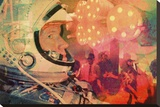 Space Party Stretched Canvas Print by John Keddie