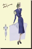 Dress Suit with Pleats, 1947 Stretched Canvas Print
