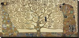 Der Baum des Lebens Bedruckte aufgespannte Leinwand von Gustav Klimt