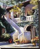Balcon de las Flores Stretched Canvas Print by Mary Schaefer