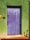 Santa Fe Portal Stretched Canvas Print by Suzanne Silk