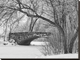 Winter Bridge II Stretched Canvas Print by Keith Dotson