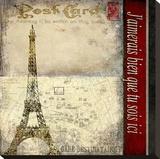 Paris Postcard Stretched Canvas Print by Karen J. Williams