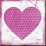 Heart Pink Leinwand von Suzanna Anna