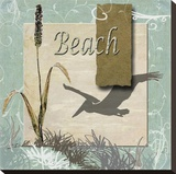Beach Stretched Canvas Print by Karen J. Williams