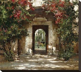 Flowered Doorway Stretched Canvas Print by Cyrus Afsary
