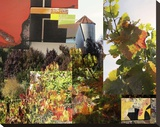Napa Collage I Stretched Canvas Print by Suzanne Silk
