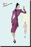 Flap Over Button Dress, 1947 Stretched Canvas Print