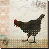 Chicken Dance I Stretched Canvas Print by Kay Daichi