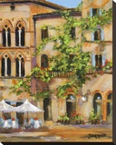 San Gimignano Stretched Canvas Print by Jan E. Moffatt