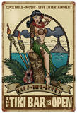 Tiki Bar is Open Metal Sign Wall Sign