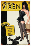 Bettie Page Modern Vixen Metal Sign Wall Sign