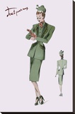 Suit with Hats and Gloves, 1947 Stretched Canvas Print