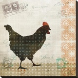 Chicken Dance II Stretched Canvas Print by Kay Daichi